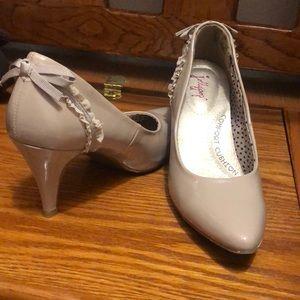 Jelly pop nude heels